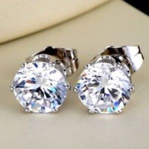 Jewelry - Crystal white gold filled earrings
